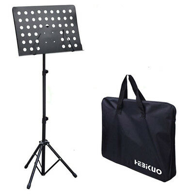 Metal Adjustable Sheet Music Stand Holder Tripod Stand Base Come with Carry Bag