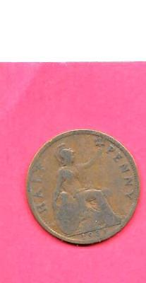 Great Britain Gb Uk Km837 1931 Fine-Nice Old Vintage Circulated 1/2 Penny Coin