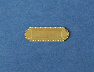 NICE 1:12 Scale Dollhouse Miniature Brass Metal Mail Slot for Door #WCHW28