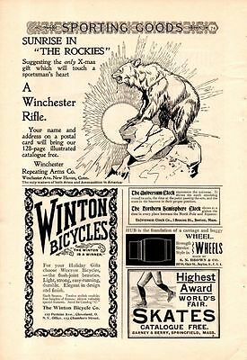 1896 Winchester Rifle Ad-Sunrise In The Rockies