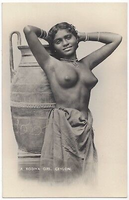 1910 Ethnic NUDE Photograph - Beautiful Youthful Rodiya, Sri Lanka, Ceylon