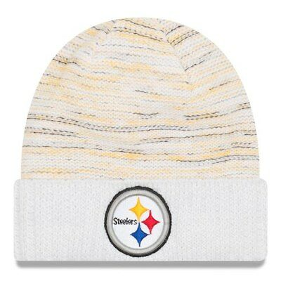 Pittsburgh Steelers New Era 2017 Color Rush Kickoff Knit Hat - White 87bb13065