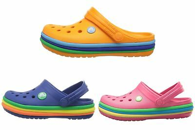 1ab8ce7b7ddc01 CROCS KIDS CROCBAND Rainbow Band Clog Blue