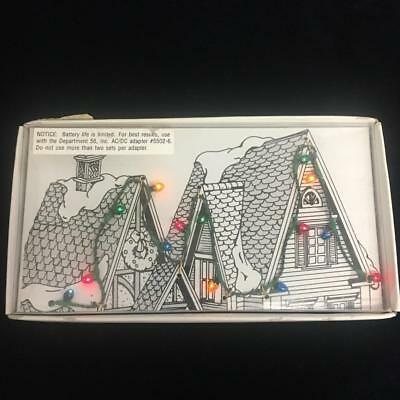 "Christmas Village Lights Dept 56 14 Bulbs on 27"" of Wire New Old Stock"