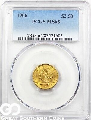 U.S. Gold, $2.5 Liberty Quarter Eagle PCGS MS 65 ** Random Dates