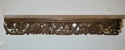 Antique French Hand Carved Wall Shelf 19th Century Gothic Revival Architectural