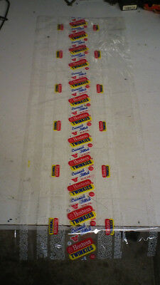 Vintage 15 Cent Twinkies wrapper from factory unused 28 inches long. Free ship.
