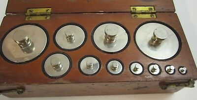 Antique W. & L.E. Gurley 1845 Scale Calibration Weight Set 1/16# to 2#