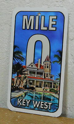 """Key West Mile 0  Metal Sign """" Southernmost House """"  New   8"""" x 4.5"""""""