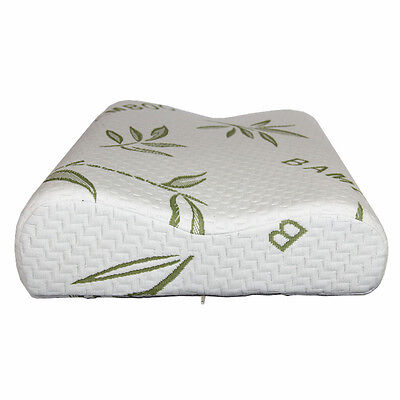 Luxury Bamboo Pillow Anti Bacterial Memory Foam Fabric Cover  Contour Shape