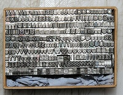 12pt Gill Sans Font Metal  letterpress Type ADANA EIGHT FIVE  8 x 5 user