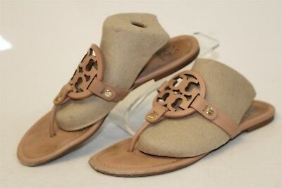 13c5970eccce Tory Burch USED Womens 8 M Miller Leather Thong Sandals Flat Shoes 5930 hh
