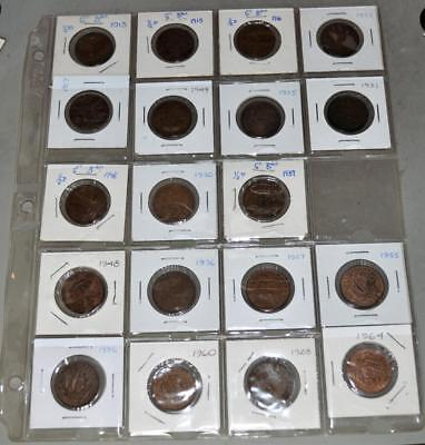 Great Britain Half Penny Lot of 23 Coins