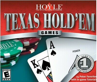 Hoyle Texas Hold'em draw stud Omaha poker card game PC new CD Win 7 tested