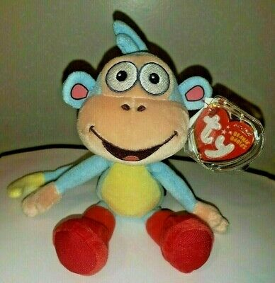 Ty Beanie Baby - BOOTS the Monkey (Dora the Explorer) (8 inch) - MWMT's ~ NEW