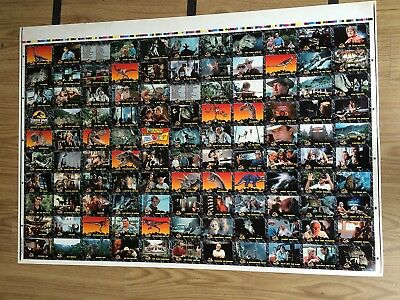 Australia Dynamic Jurassic Park Trading Cards 110-Base Card Uncut Sheet (110)