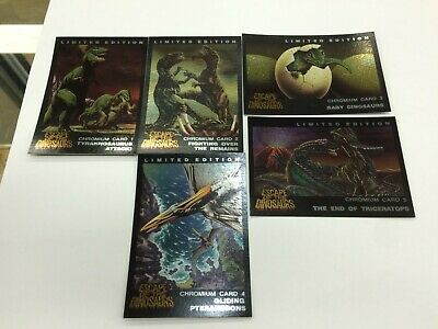 Australia Dynamic Escape Of The Dinosaurs Trading Card Chromium Card subSet (5)