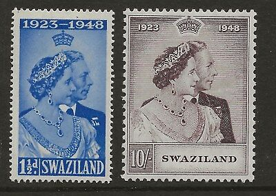 Swaziland  Sg 46/7  1948 Silver Wedding Set   Fresh Mounted (Hinged) Mint