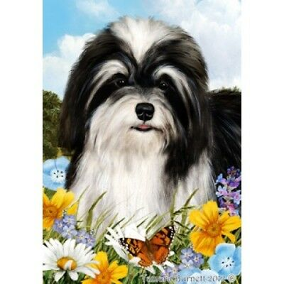 Large Indoor/Outdoor Summer Flag - Black & White Havanese 18092