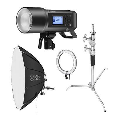 Flashpoint XPLOR 600PRO R2 TTL Monolight Kit With Glow ParaPop and C-Stand