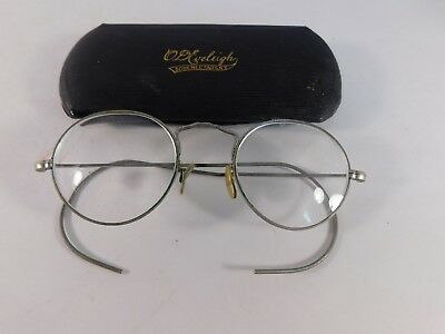 Antique Spectacles/Glasses with Case, Ornate Frame - FREE SHIPPING
