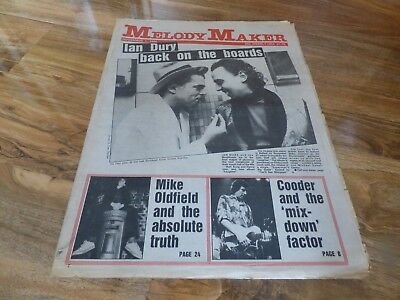 Melody Maker - 1/11/80, Ian Dury / Mike Oldfield / Captain Beefheart / Ry Cooder
