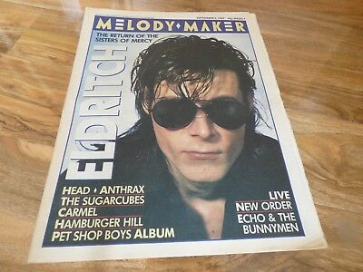 Melody Maker - 5/9/87, The Sisters Of Mercy / The Sugarcubes / Anthrax / Carmel