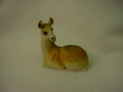 LLAMA animal TiNY resin  Figurine HAND PAINTED MINIATURE Collectible mini NEW