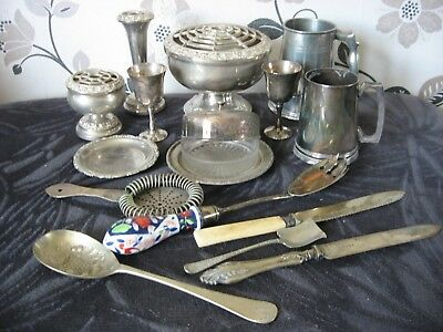 Job Lot Of Silver And Silver Plate