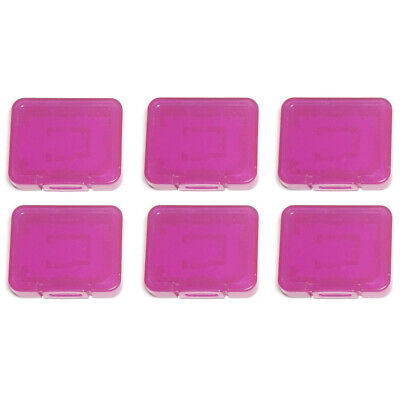 Card case for DS SDHC micro memory storage holder plastic ZedLabz–6 pack Purple