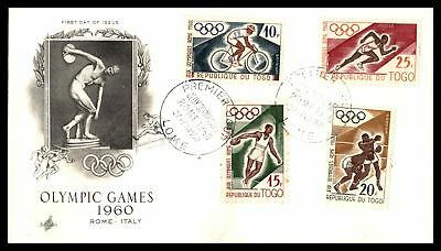 Olympic Games Rome Italy 1960 Combination Artcraft Cachet On Unsealed Fdc