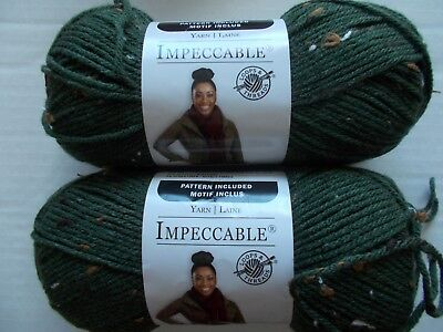Loops&Threads Impeccable yarn, Camo Tweed,  lot of 2 (190 yards each)
