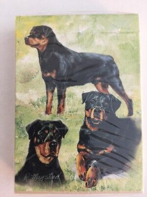 Unopened Deck Of Playing Cards Rottweiler Dogs Best Friends by Ruth Maystead