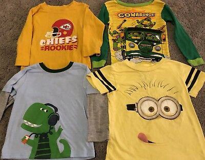 Toddler Shirts 2T--3T Minions, Chiefs