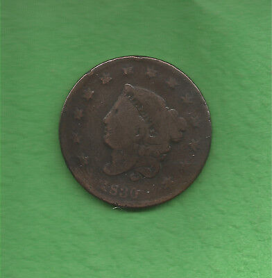1830 Matron Head, Large Cent, Large Letters - 188 Years Old!!!