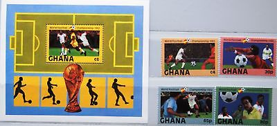 GHANA 1982 945-48 Block 97 ex 803-811 Soccer World Cup Fußball WM Spain MNH