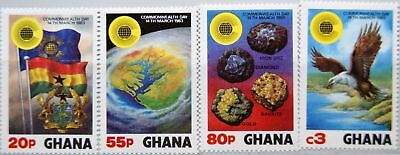 GHANA 1983 964-67 822-25 Commonwealth Day Tag Coat of Arms Wappen Flags MNH