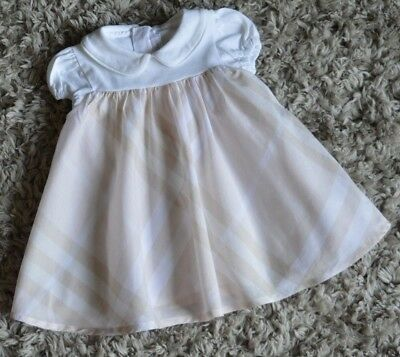 Burberry Baby Girls Designer Summer Dress 6 Months Excellent