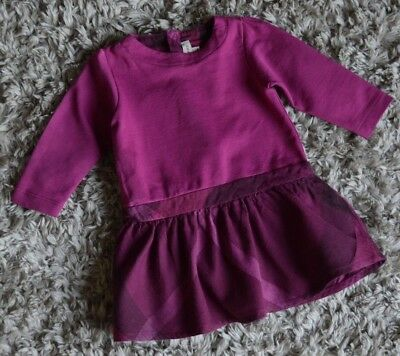 Burberry Baby Girls Designer Dress 9 Months Small Fitting Excellent
