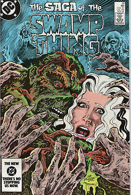 SWAMP THING # 30 - A HALO OF FLIES (  MOORE SCRIPT - 2nd SERIES  SCARCE 1984 )