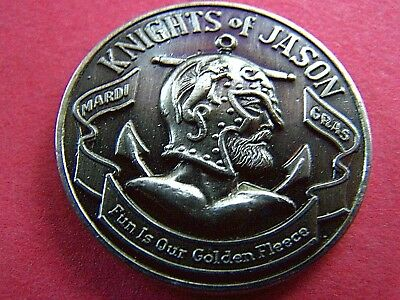 1971 Jason CHESS--GAMES PEOPLE PLAY Oxidized Silver HiRelief Mardi Gras Doubloon