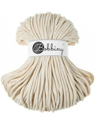 Bobbiny koord color: NATURAL / 100% Cotton 5mm Bobbiny Rope 100m  Macrame Cord