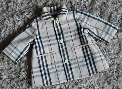 Burberry Baby Girl Designer Checked Summer Coat 3 Months Vgc