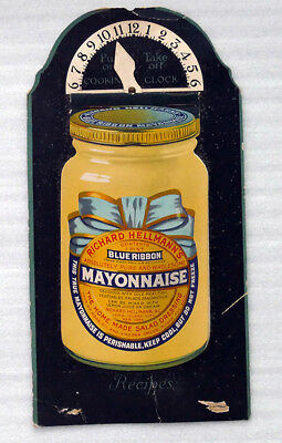 1930's Hellmann's Mayonnaise Recipe Cooking Clock Free Shipping
