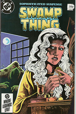 SWAMP THING # 33 - ABANDONED HOUSES (  MOORE SCRIPT - 2nd SERIES  SCARCE 1985 )