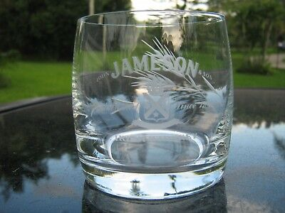 Jameson Irish Whiskey Laser Cut Logo Lettering / Grain 3 Inches Tall  Pub Glass