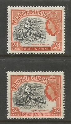 Arcade British Guiana 1956 24c Mint/Used Shade Issues