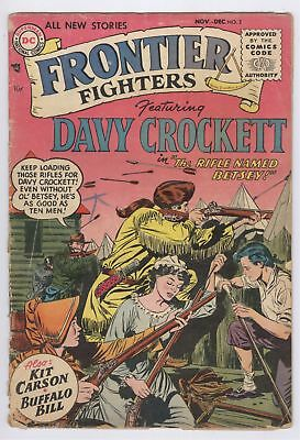 Frontier Fighters Comic #2 (1955) GD DC Golden Age Davy Crockett