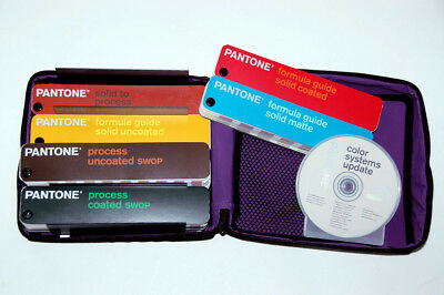 Pantone Color Guide Formula Coated/Uncoated 6 Book Library w/CD & Portable Case