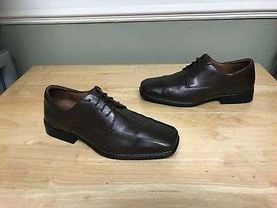 Men's Rockport Brown Leather Formal Shoes Size uk 9.5 W / 9 and a half VGC!